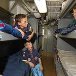 Scouts, youth groups and families can spend the night aboard the ship. 866-877-6262 x203.