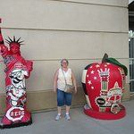 Statues at Great American Ballpark