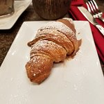 Croissant with chocolate cream