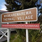 Sign showing the full name of the Whaka village
