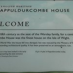 Appeldurcombe House information board