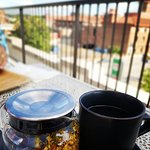 herbal tea and rooftop