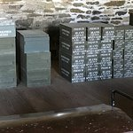 """Stacked boxes of ammo cartridges in the """"magazine"""""""