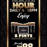 Check out our promo hour from 4pm-10pm daily