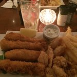 ...fried-fish, calamari & chips...