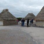 Mock up of a Stonehenge builder village.