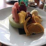 Brasserie 3 fruit platter with lemon sorbet