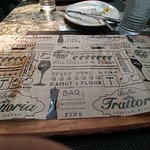 Trattoria paper under the plates