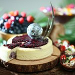 Blueberry and Acai Berry Cheesecake