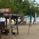 one of the many places to eat on the sand