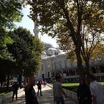 A view on entering the grounds of the Sultanahmet/Blue Mosque from the Hippodrome side