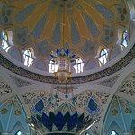 Огромная люстра мечети