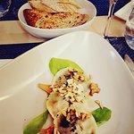Ravioles aux épinards et foie gras / champignons