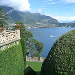 View of lake form the gardens of the Villa