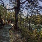 Nuestra maravillosa base a orillas del rio Petrohue al final de la actividad.