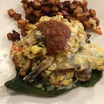 Fire-Roasted Poblano Pepper stuffed with Eggs