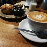 Flat White with Fruit Scone