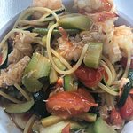 Wondrful seafood pasta with crab - just delicious