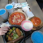 We were impressed with the vegetarian food choices at Typhoon Lagoon! A wrap, rice bowl, burger