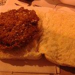 Chicken burger, no garnish!!!