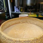 Huge cheese wheel