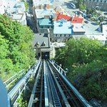 On board Old Quebec Funicular