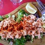 The Dame Tartine - shredded chicken with shrimp