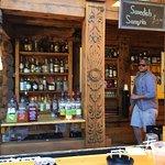 Full bar, beautiful carvings, great service