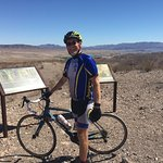 This was our turnaround point on the bike path. Lake Mead WAY in the background.