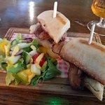 Belly Pork Ciabatta at The Dog & Duck in Linton (21/Sept/18).