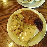 Turkey Lunch Special $5.99 turkey,gravy stuffing,cranberry sauce,mashed sweet potatoes with peca
