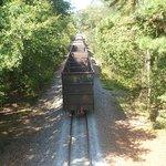 The train passing through