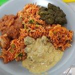 My beautiful takeaway 3 curries & veg biryani