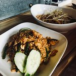 Jungle curry fried rice and chicken pad thai