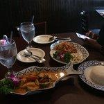 Chicken Panang and Pad Thai Shrimp