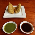 Samosas and Sauces
