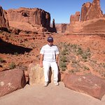 Me in Arches N.P. with Park Avenue in the background