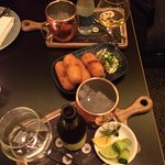 Croquettes and Gin tasting board
