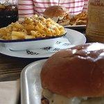 Burgers and Mac 'n Cheese