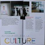 Le flyer du Musée Olympique à Lausanne