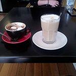 Hot chocolate and honey latte.