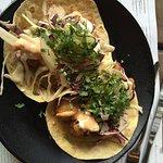 Baja fish tacos always good.