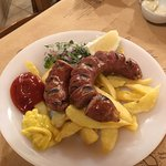 Village Sausage - delicious. Good chips too!