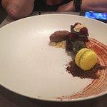 macaroon with brownie