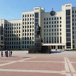 Government House in Independence Square Minsk