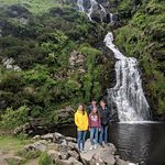 Assaranca Falls on drive to the Maghera Beach Caves