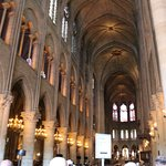 Inside view of N.D.Cathedral, Paris, France