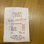 Receipt to show+good value the place is !