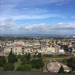 View from the castle overlooking Edinburgh