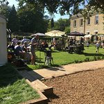 Live band playing in the garden